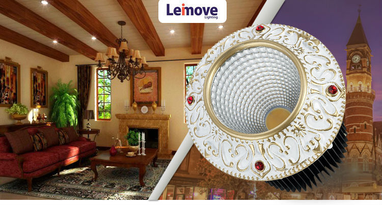 led downlight spots recessed rounds commercial lighting