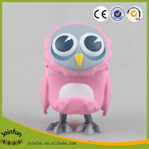 3D design Custom plastic animals figurines owl toys for sales