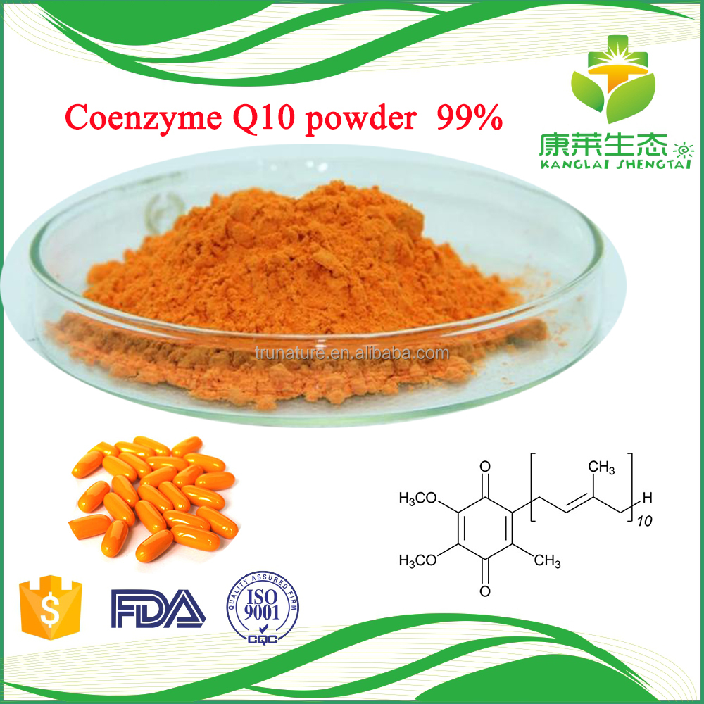 Natural raw materials coenzyme q10 ubiquinol is used by cells to produce energy needed for cell growth and maintenance