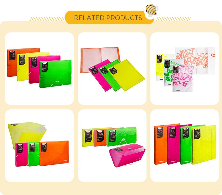 Hot sale a4 stock pp plastic storage file folder with elastic bands