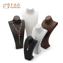 FSD Custom 제 leather 마네킹 jewelry display 검거 necklace 서