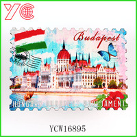 YCW16895 hungary budapest pearl jament price crash decorative magnet wooden fridge magnet