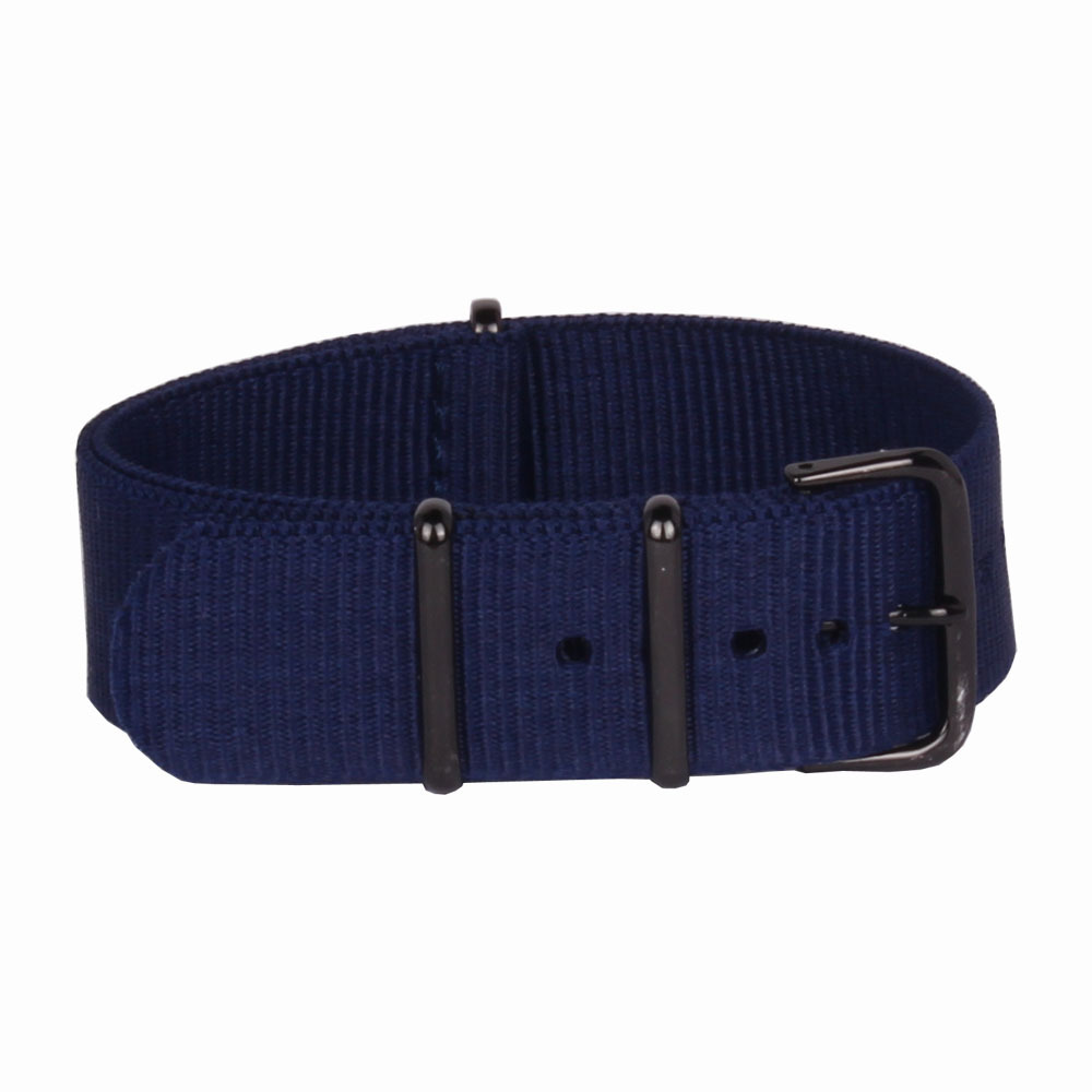 New Arrived 2015 Navy Watchbands 20mm Nato Fabric Nylon Watch Watchbands Woven Straps Bands Black Buckle Belt