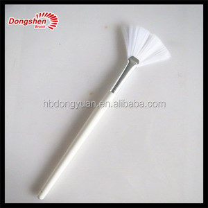 Pure white synthetic hair makeup fan brush,brushes makeup,no name makeup