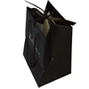 customized craft jewelry gift paper bag with handle black for jclothing shopping