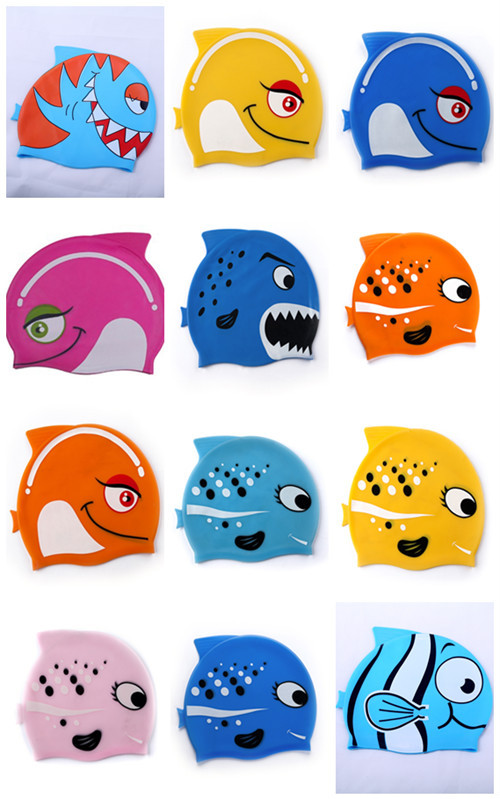 Factory offer colorful fashion kids swimming cap