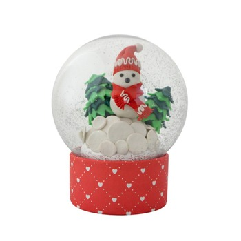 Custom Polyresin angel snow globe Glass religious snow globe