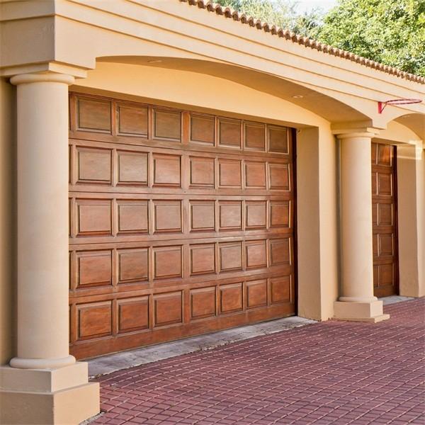 Madera color hierro forjado puerta de garaje para la venta for Puertas de madera para garage