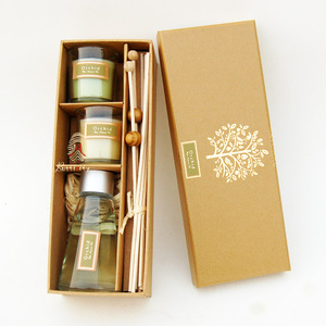 Luxury decorative reed diffuser gift set box