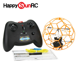 R13272 2 Channel Infrared Control Flying Football Helicopter RC Flying Toys UFO