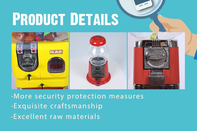 卸売コインはプラスチックミニキャンディー自動販売ガムボール機を操作します