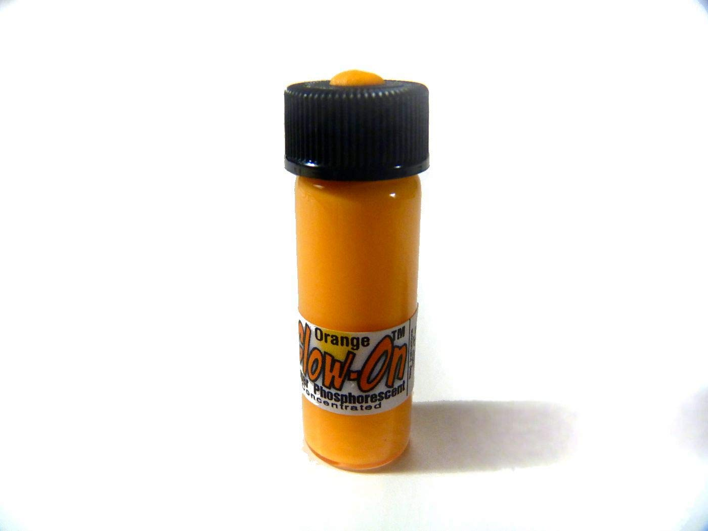 GLOW-ON Orange Sherbet Color, Super Phosphorescent Gun Night Sights Paint, Medium Size 4.6 Ml Vial. Gold standard of glow paints.Super bright long lasting glow.