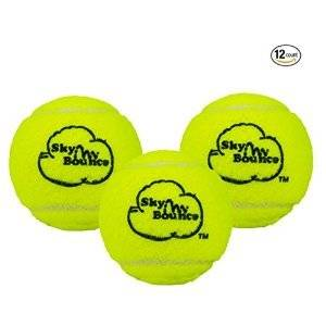 Sky Bounce® Practice Tennis Balls - Green, Orange, White, Pink, and Two-Tone Available (Select a Color, Pack of 12 Balls)