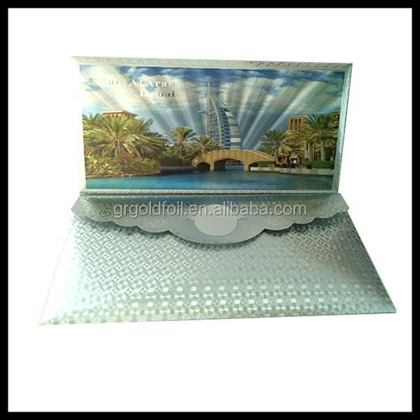 Bubai Atlantics Palm Invitation Card Gold Foil Envelop Can Be