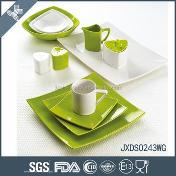 Square green elegant design porcelain colorful mexican ceramic dinnerware sets  sc 1 st  Alibaba & Square Green Elegant Design Porcelain Colorful Mexican Ceramic ...