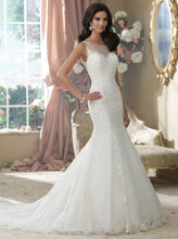 fashion off shoulder lace white beaded wholesale wedding dress