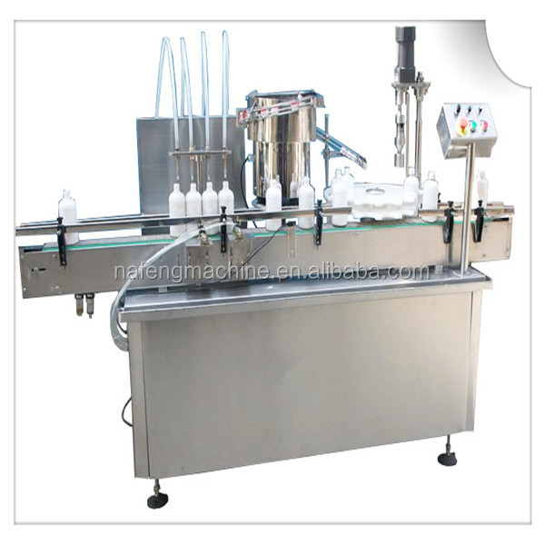 Automatic coconut and marula oil filling machine and capping machine