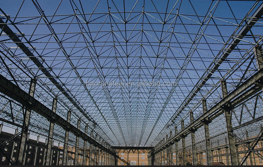 steel structure prefabricated aircraft hangar