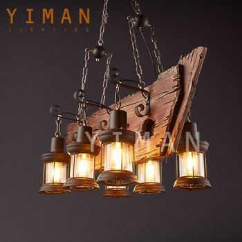 Ancient Jute Rope Chandelier Suspended Light In The