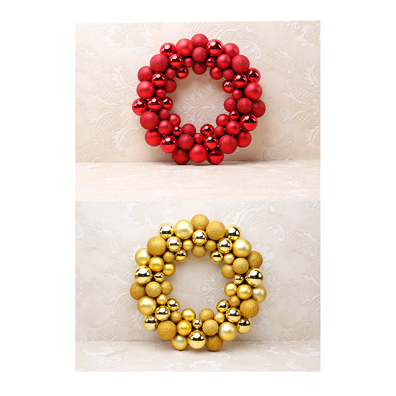 Promo Christmas door decorated Christmas Ball garland wreath