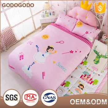 e54d02e557cf Custom Cartoon Printed 6Pcs Queen Size Luxury Comforter Sets 100% Cotton  Cover 3D Girls Comforter