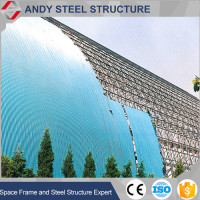 Earthquake resistant design of Steel Space Frame coal Storage