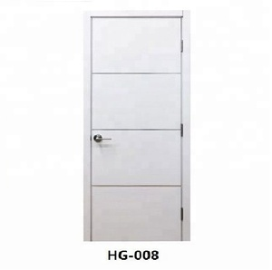 Cheap bedroom latest Design Interior white PVC coated MDF hollow core Wooden Doors for rooms