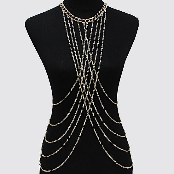 New Design Jewelry Set Thin Chain Sexy Body Chain Necklace Thailand Jewelry Set Fashion Jewelry Set Women