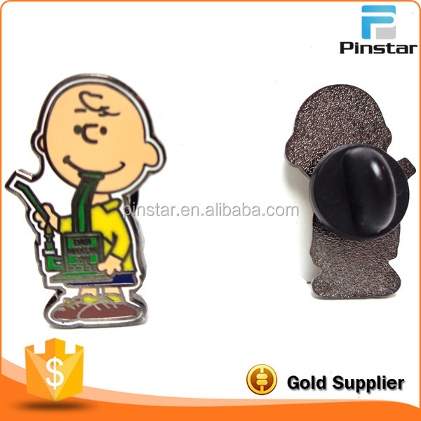 Custom Charlie Brown Dab Pin Label Bho 710 Hat pin