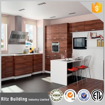 Laminate Cheap Kitchen Cabinets, Wood Veneer Kitchen Model