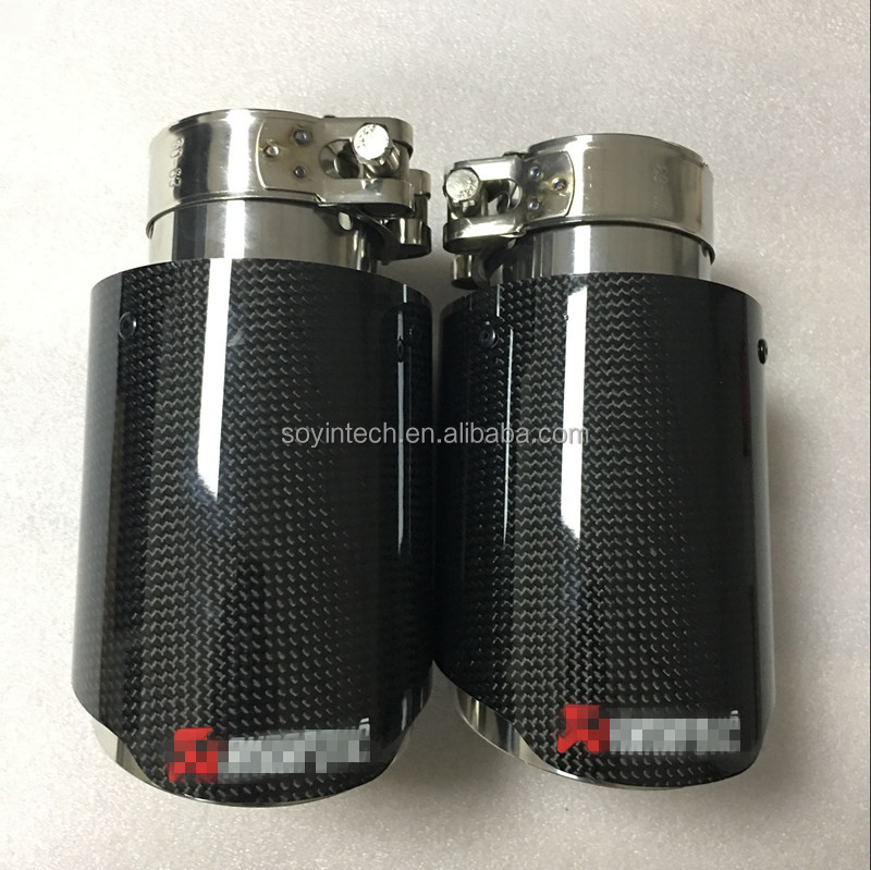 Carbon fiber universal akrapovic exhaust tips
