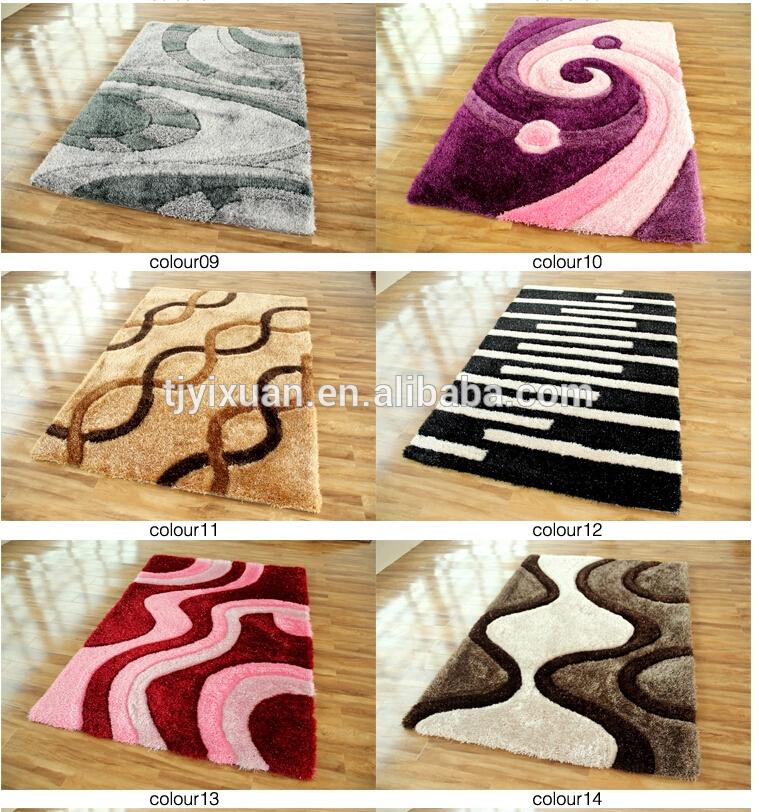 Modernes tapis shaggy polyester 3cm pour le salon tapis id for Produit pour nettoyer les tapis