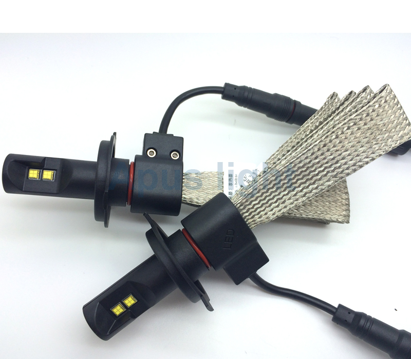 Newest Fanless 5000lm Car H4 Led Headlight Bulbs Made With Philips ...