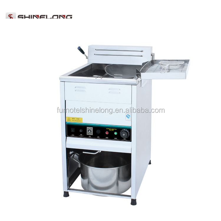 25L Single Tank Freestanding Electric Open Fryer with Knob Control for Fried Chicken