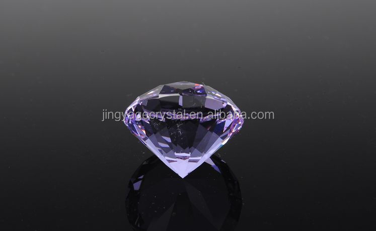 purple crystal diamond paperweight