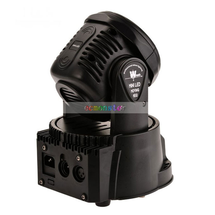 Cheap 100W 7-LED RGBW Auto Sound Control Rotary Led Stage Light Black