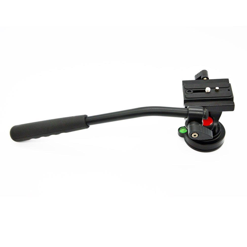 ERTIANANG Fluid Head Max 5KG with 1/4 Quick Rlease Plate Video DSLR Camcorder Fluid Tripod Head Drag slider for Monopod DSLR Camera