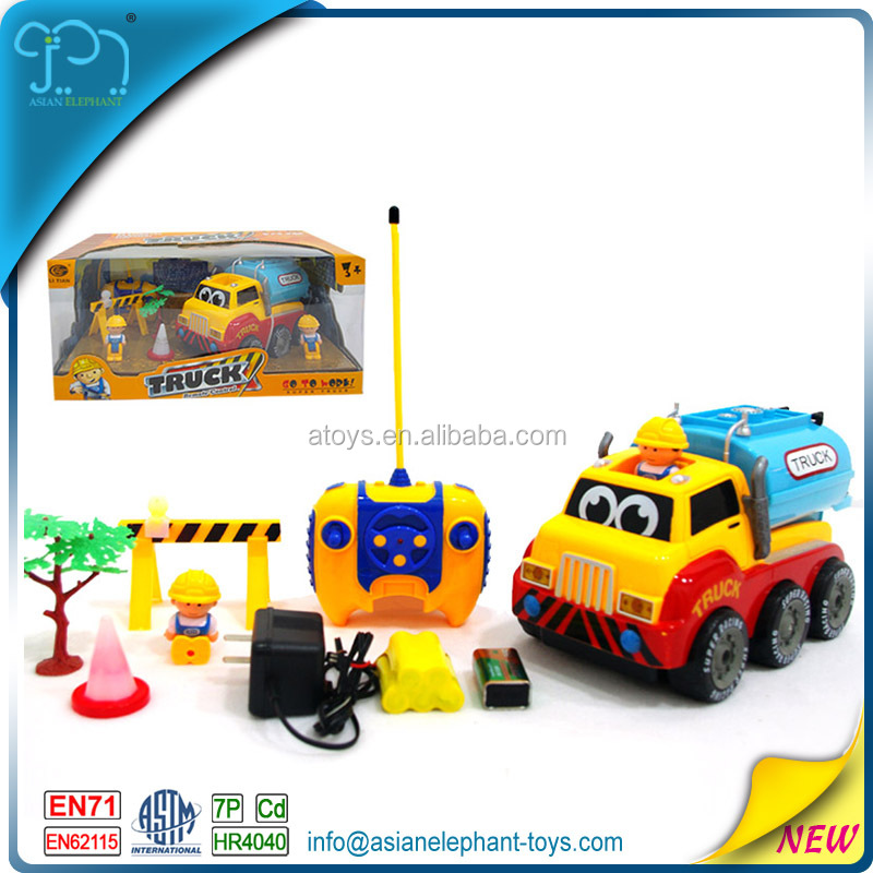 4 Channel RC Cartoon Car 4WD Truck 4WD Toy Car Toys Remote Control For Kids Tractor 4WD For Boys Free Sample RC Car With Battery