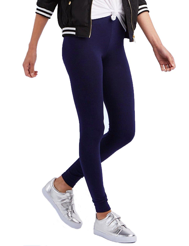 2324618ed0cd95 Get Quotations · Ancal Leggings For Women,Ultra Soft Leggings High Waist  Knit Power Flex pant Black,