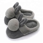 Winter Children Fluffy Animal Rabbit Slippers For Kids Rabbit Fur Slippers
