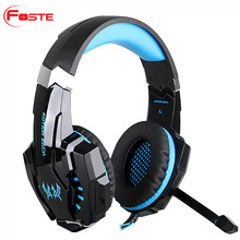 Grosir Kustom Logo USB Kebisingan Membatalkan Gamer Headphone PS3 PS4 Komputer PC Gaming Headset 7.1 dengan Mikrofon