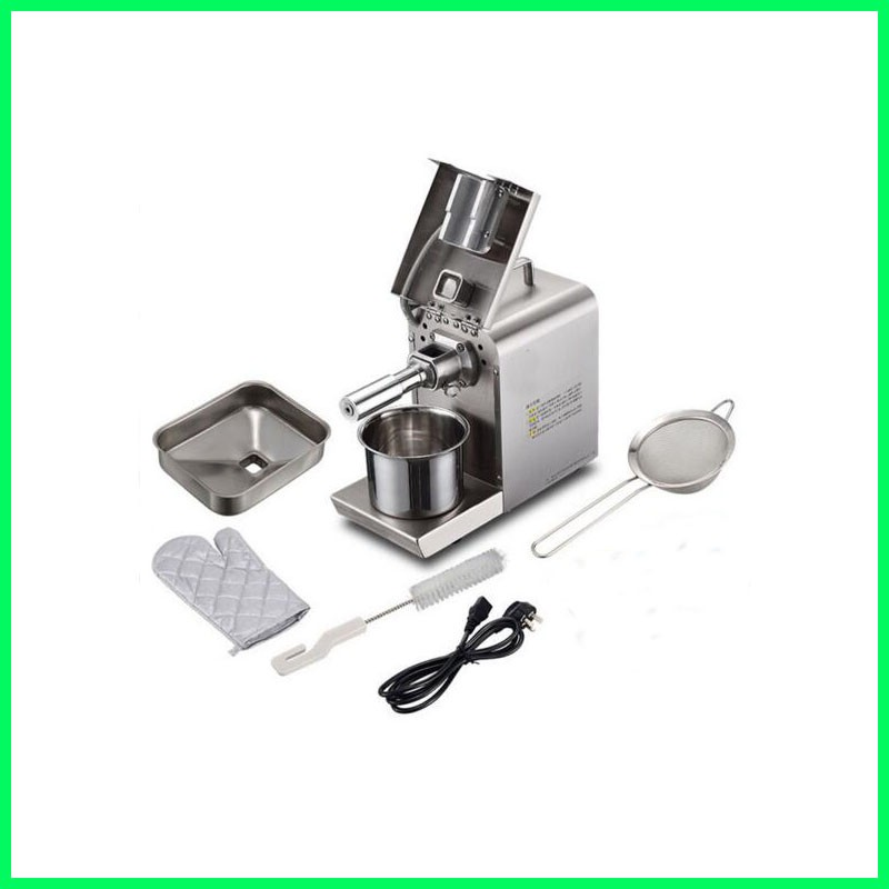 High efficiency stainless steel electric home mini oil press machine