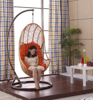synthetic rattan indoor swings living room swings, View living ...