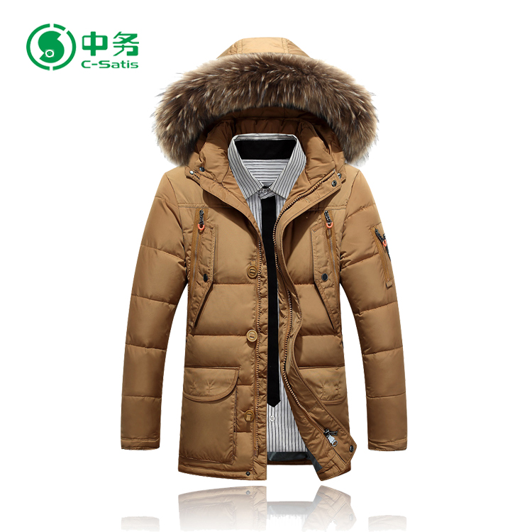 Down Jackets Able Leather Down Jacket Mens Fur Coats Winter Duck Down Parka Male Clothing Thicken Warm Outerwear Overcoat Larger Size Windbreaker Elegant And Graceful Jackets & Coats
