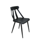 Black and white steel pipe leg plastic furniture chair