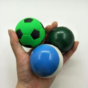 2019 New High PU mochi squishy Soccer Ball Design Custom Color Rubber Bouncy Ball Kid Toy Ball