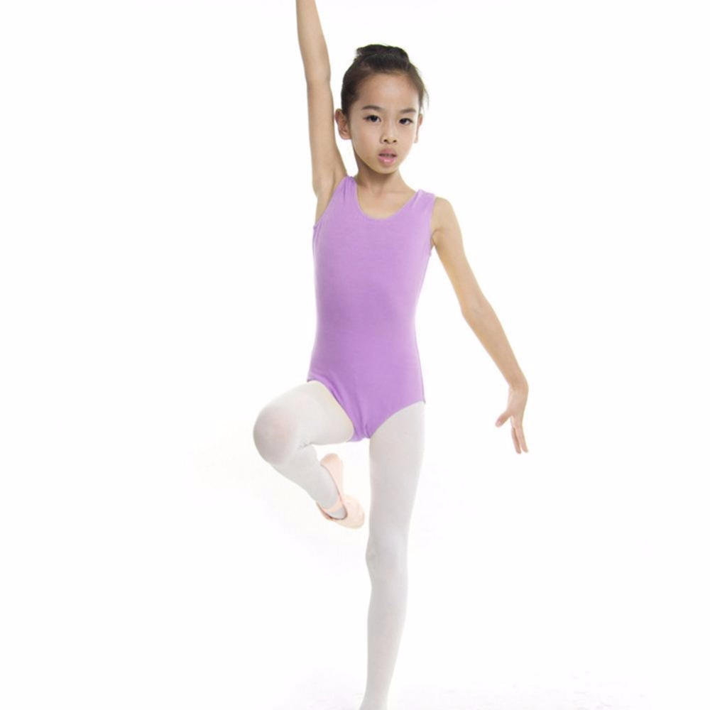 Kids Dance Gymnastics Leotard Skirt Tutu Stretch Bodysuit ...