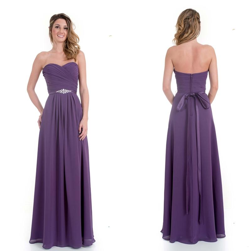 Get Quotations · Sweetheart A-Line Beaded Purple Chiffon Bridesmaid Dresses  2015 New Arrival Floor Length Bridesmaid Dresses 37290de658ea