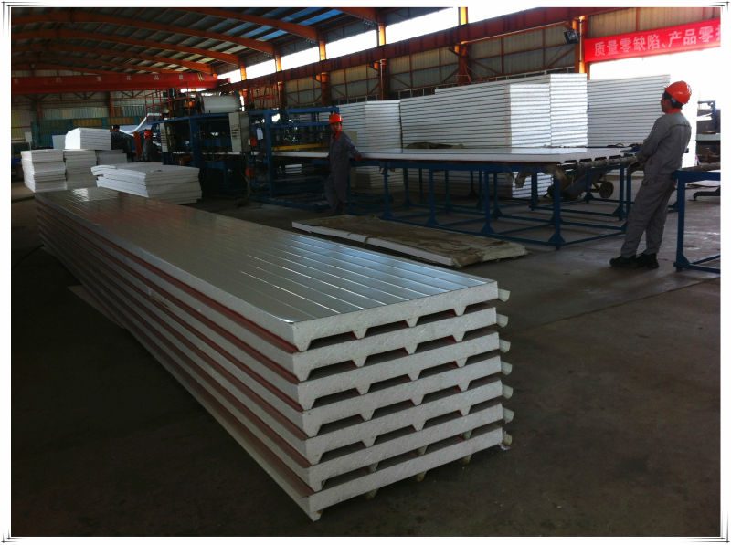 Chinese steel structure and sandwich panel project factory