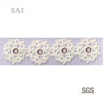 12 Embroidery beautiful promotional new pattern high quality 3d flowers lace